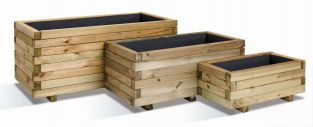 Trough Planters - Mixed Set of 3 - 19/62/143L