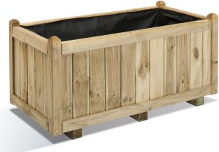 91.5cm Pine Wood Traditional Trough Planter