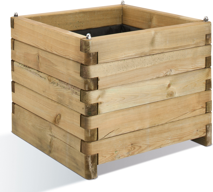 50cm Wooden Interlocking Square Planter