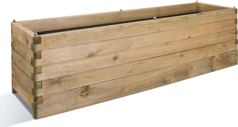 1.8m Pine Wood Extra Large Rectangular Planter