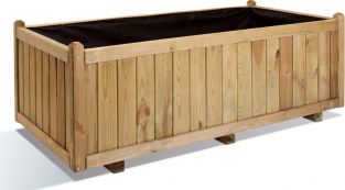 1.4m Wooden Traditional Trough Planter
