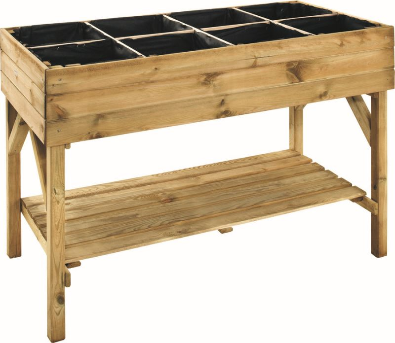 Vegetable Raised Planting Table - 1.2m x 60cm (H86.5cm)