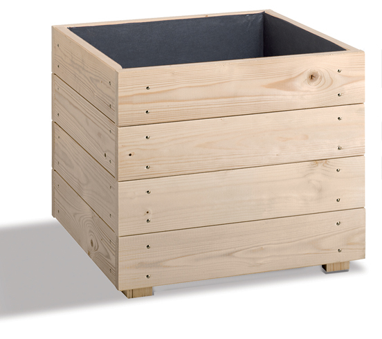 40cm Pine Wood Small Square Planter