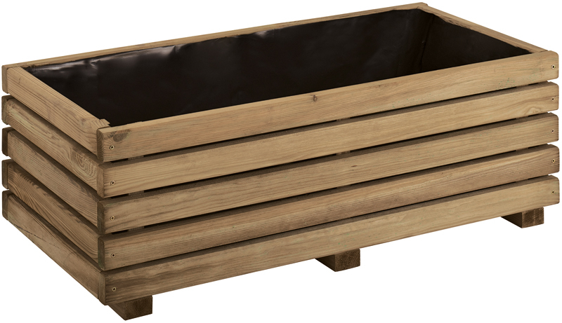 Rectangular Trough Planter 64 litres - H 27cm W 80cm D 40cm
