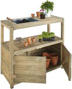 3' Potting Table with Cupboard