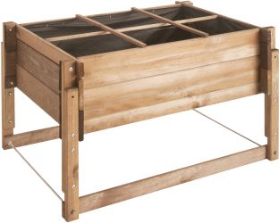 Overlap Adjustable Raised Planting Table - 104cm x 74cm (H50-80cm)