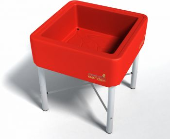 French Garden Classic Plastic Planter (Red) - 70cm² (H75cm)