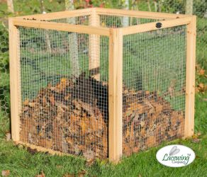 Standard Wire Mesh Compost Bin 80 x 80 x 80cm - 511 Litres - by Lacewing™