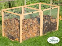Standard Wire Mesh Compost Bin 140 x 70 x 70cm - 685 Litres - by Lacewing™