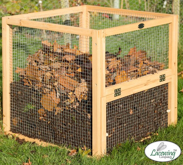 Premium Wire Mesh Compost Bin with Door 70 x 70 x 70cm - 342 Litres - by Lacewing™