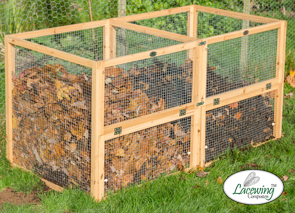 Premium Wire Mesh Compost Bin with Door 140 x 70 x 70cm - 685 Litres - by Lacewing™