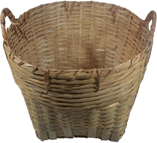 Round log baskets natural bamboo -  38 cm (1ft 2in) x Diam 60 cm (1ft 11in)
