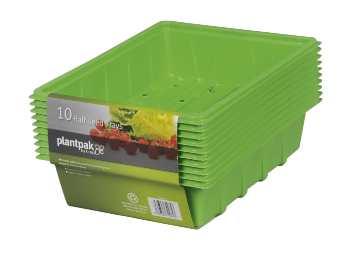 Pack of 10 Plantpak Half Seed Trays