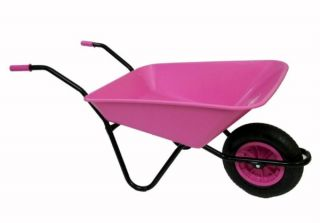Every Day - Medium Duty Wheelbarrow in Pink