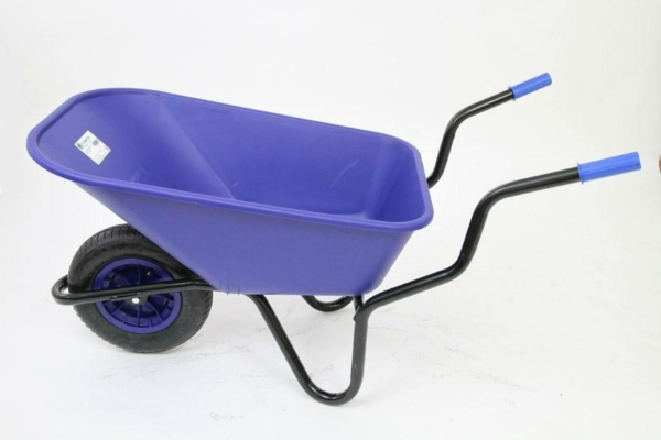 Extra Capacity - Equestrian Range Bronco Wheelbarrow in Blue