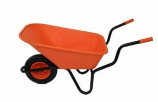 Extra Capacity - Equestrian Range Bronco Wheelbarrow in Orange