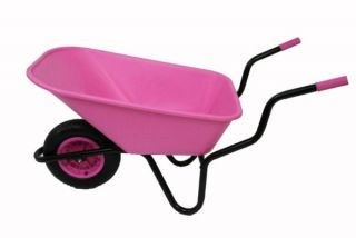 Extra Capacity - Equestrian Range Bronco Wheelbarrow in Pink