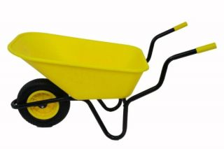 Extra Capacity - Equestrian Range Bronco Wheelbarrow in Yellow