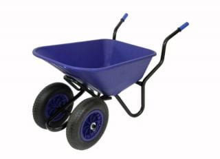 Extra Capacity - Equestrian Range Bronco Duo Wheelbarrow in Blue