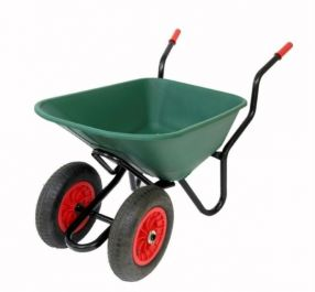 Extra Capacity - Equestrian Range Bronco Duo Wheelbarrow in Green