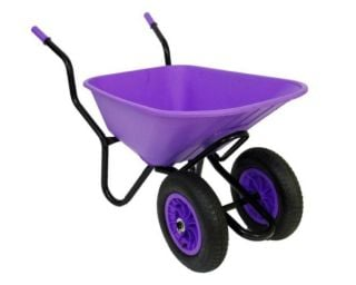 Extra Capacity - Equestrian Range Bronco Duo Wheelbarrow in Lilac
