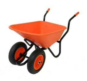 Extra Capacity - Equestrian Range Bronco Duo Wheelbarrow in Orange
