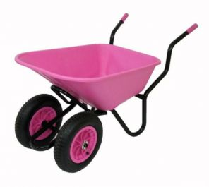 Extra Capacity - Equestrian Range Bronco Duo Wheelbarrow in Pink
