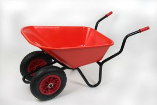 Extra Capacity - Equestrian Range Bronco Duo Wheelbarrow in Red