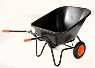 Bullbarrow Titan Duo Black Wheelbarrow