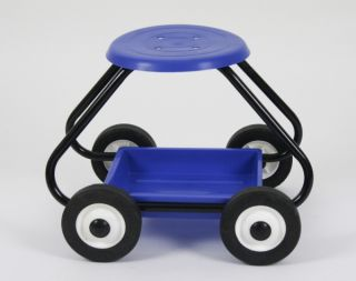 BullBarrow Garden Scoot - Stool in Blue