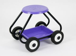 BullBarrow Garden Scoot - Stool in Lilac
