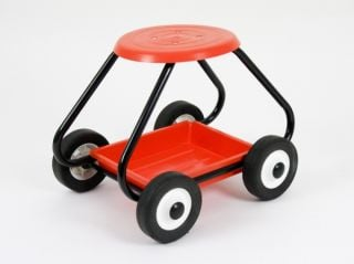BullBarrow Garden Scoot - Stool in Orange