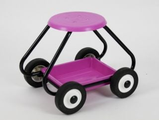 BullBarrow Garden Scoot - Stool in Pink