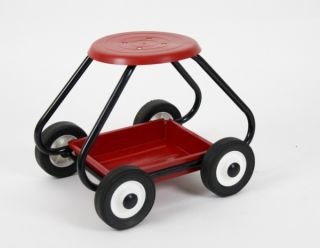 BullBarrow Garden Scoot - Stool in Red