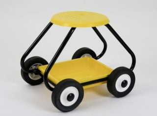 BullBarrow Garden Scoot - Stool in Yellow