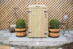 240L Single Chest Pressure Treated Redwood Wheelie Bin Store
