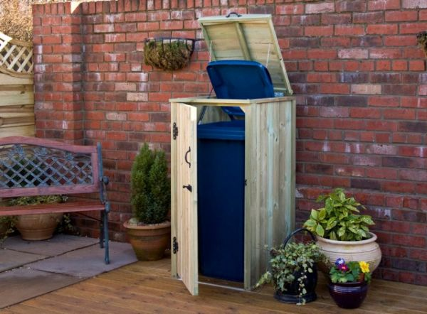 Single Chest Wheelie Bin Store - 240L