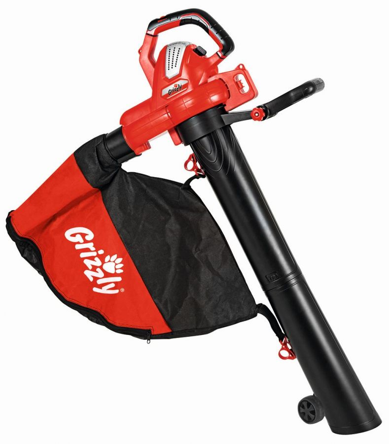 Grizzly 3000W Electric Combination Leaf Blower and Vacuum