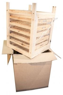 Preassembled Traditional Apple Storage Rack - 5 Drawers H73cm x W55cm x D59cm by Lacewing™