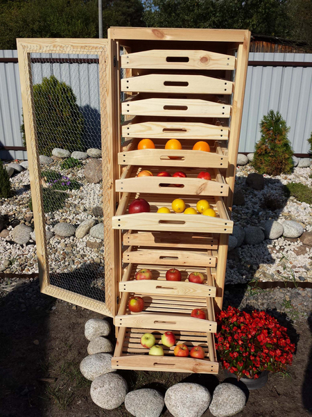 Traditional Apple Storage Rack 13 Drawers H156cm X W55cm