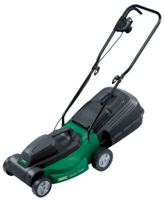 Draper 1400W 370MM 230V Rotary Lawn Mower With Grass Collection Box