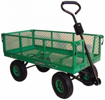 "Handy 1'7 3/4"" x 3'7"" Small Garden Trolley / Cart"