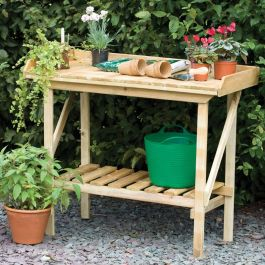 W1.08m (3Ft 6in) Wooden Potting Bench