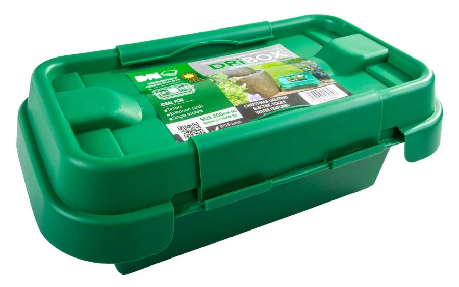 DriBox 200 Weatherproof Outdoor Electrical Connection Box in Green