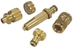 Brass Garden Hose Fittings Set