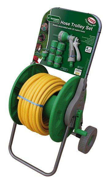 25m Garden Hose Trolley Set