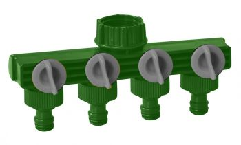 Four-Way Garden Tap Connector