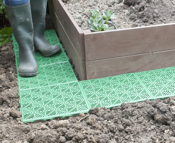 Set of 5 Garden and Patio Tiles  - Plastic - Instant Garden Path