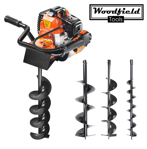Woodfield™ 52cc Petrol Earth Auger with 3 Drill Heads
