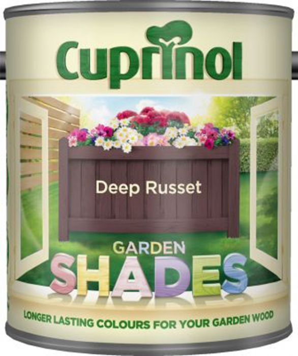 Cuprinol Garden Shades Paint Deep Russet 1L